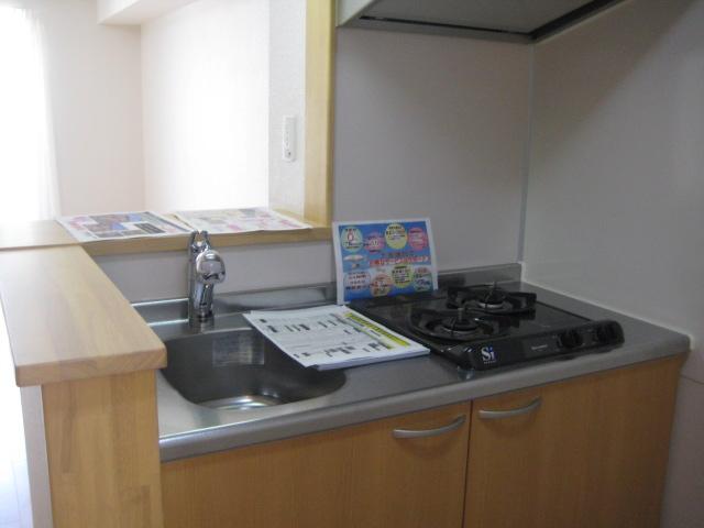シャン・ド・フルール A 01040号室のキッチン