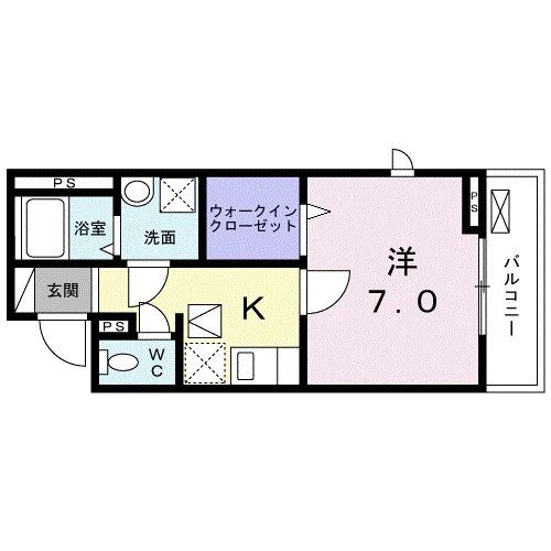 レジデンス鎌倉・01010号室の間取り
