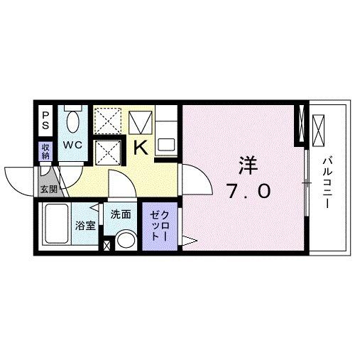 レジデンス鎌倉・01020号室の間取り