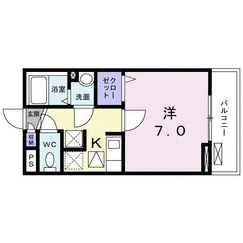 レジデンス鎌倉・01030号室の間取り