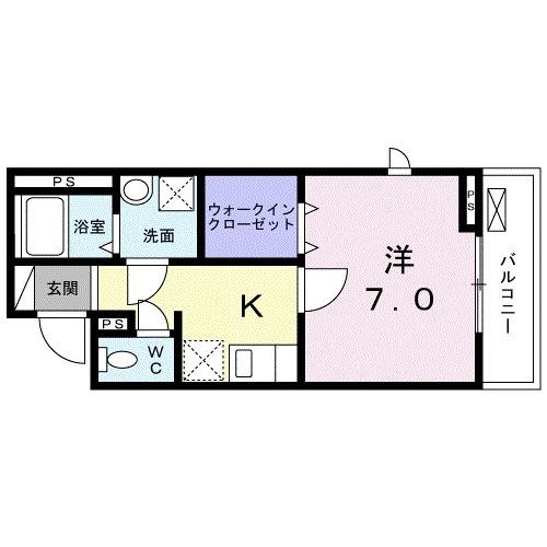 レジデンス鎌倉・02010号室の間取り