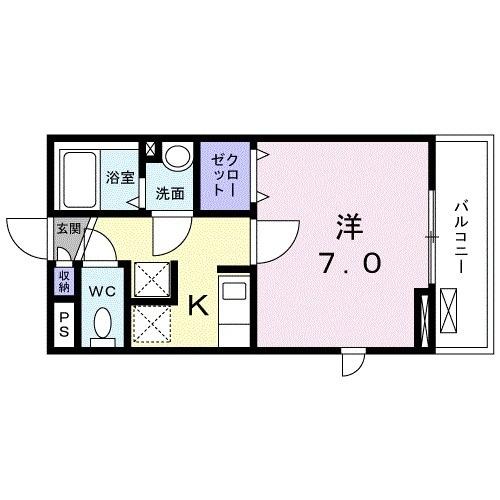 レジデンス鎌倉・02050号室の間取り