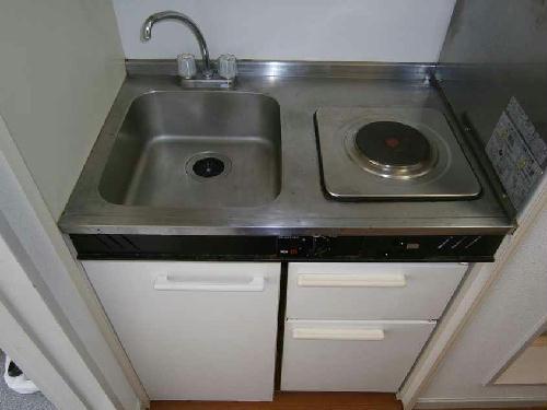 レオパレス洗足池第3 203号室のキッチン