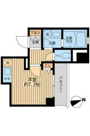 クリオ戸越銀座弐番館・0403号室の間取り