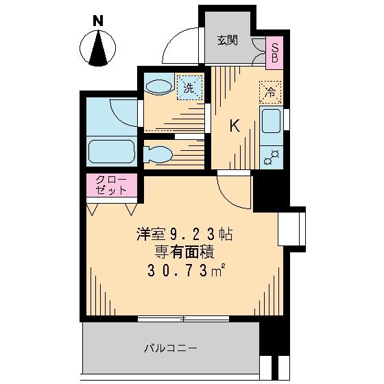 J・S深川高ばしビル・202号室の間取り