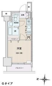 エスティメゾン錦糸町Ⅱ・0812号室の間取り
