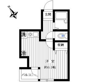 ブライトステージ南田中・502号室の間取り