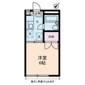 ボヌールYAMABIKO・0202号室の間取り