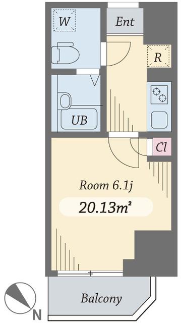 ダイヤモンドタワー西小山・0703号室の間取り