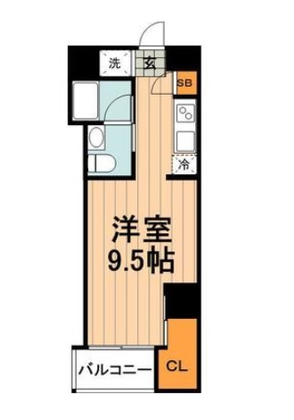 ジェイヴェルデ江戸川橋・0601号室の間取り