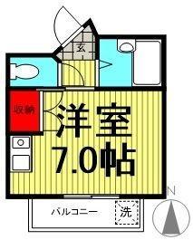 フジマツ第3ビル・303号室の間取り
