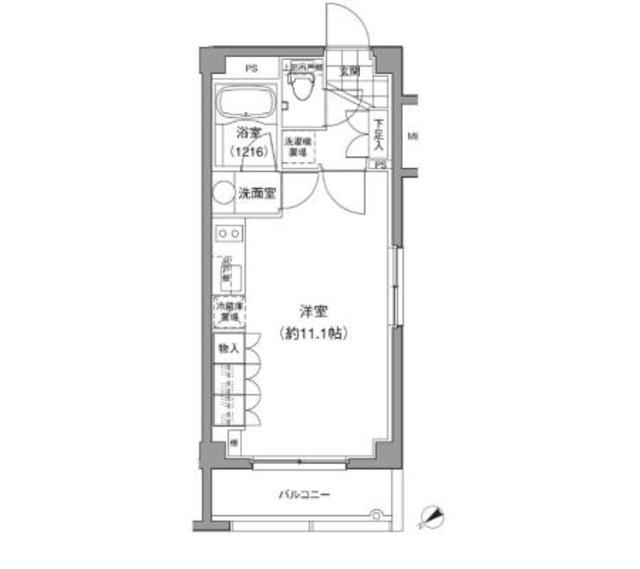 小石川富坂レジデンス・102号室の間取り