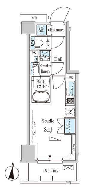 パークアクシス木場キャナル イースト・603号室の間取り