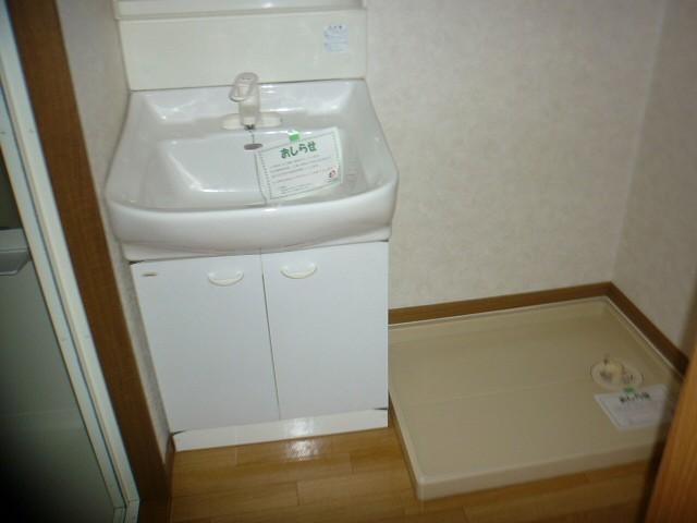 グロワールA 01050号室の洗面所