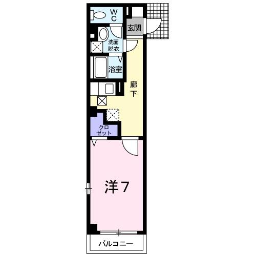 リバーフロント 417・02050号室の間取り