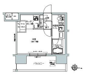 パークキューブ板橋本町・1113号室の間取り