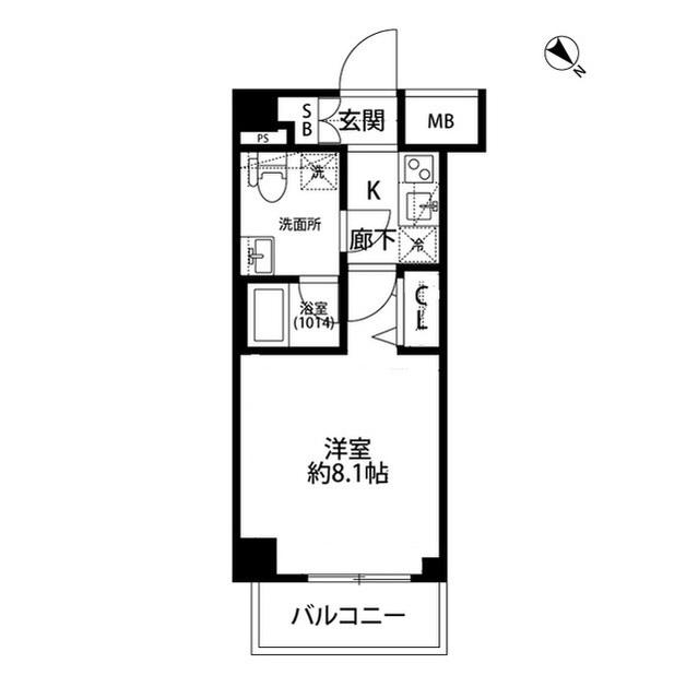 プレール・ドゥーク志村坂上Ⅱ・311号室の間取り