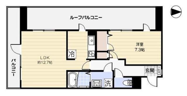コロニァ・ハウス・401号室の間取り