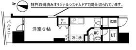 ロワール横浜レムナンツ・829号室の間取り