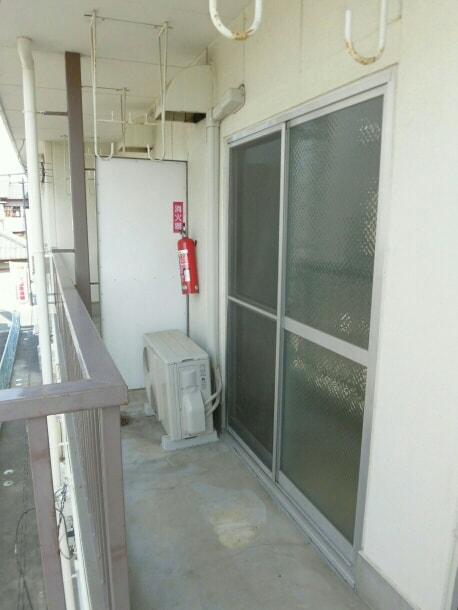 柱アパート 02010号室のバルコニー
