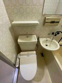 藤和サンコープ大名 406号室のトイレ