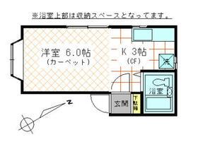 ヒュッテ高田・101号室の間取り
