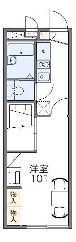 レオパレスフラワー開成Ⅱ・206号室の間取り