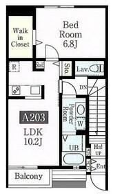オークフォレスト市ヶ尾 A棟・203号室の間取り
