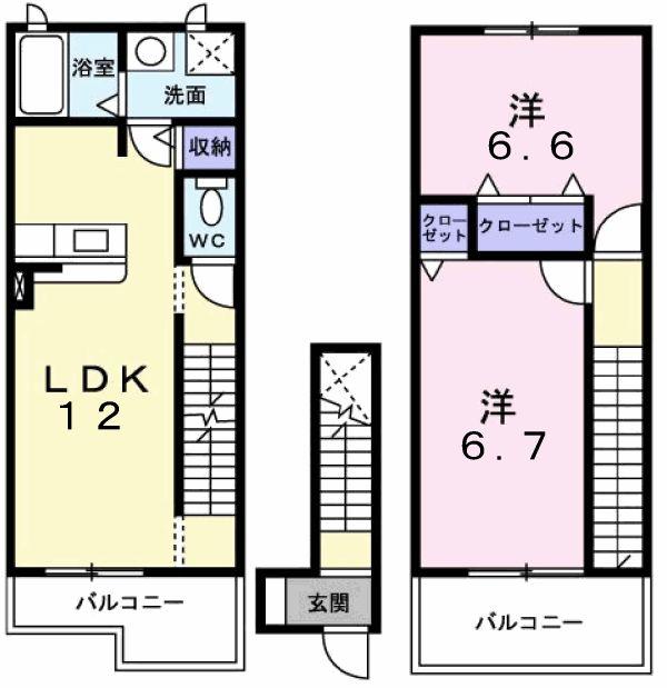 Mt.オータム 02060号室の間取り