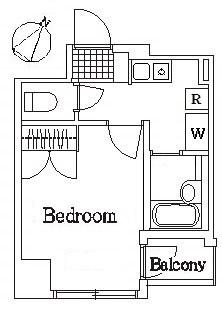 グランヴァン水天宮・305号室の間取り