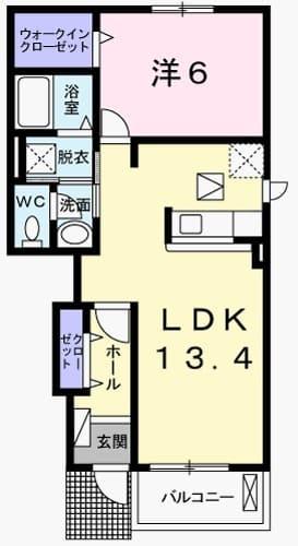 ラ・フィオーレⅡ・01050号室の間取り