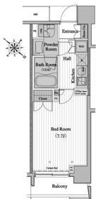レジディア月島II・0204号室の間取り