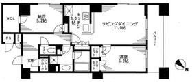 レジディア日本橋馬喰町・0414号室の間取り