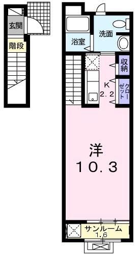 エクセル ウィステリアB・02020号室の間取り