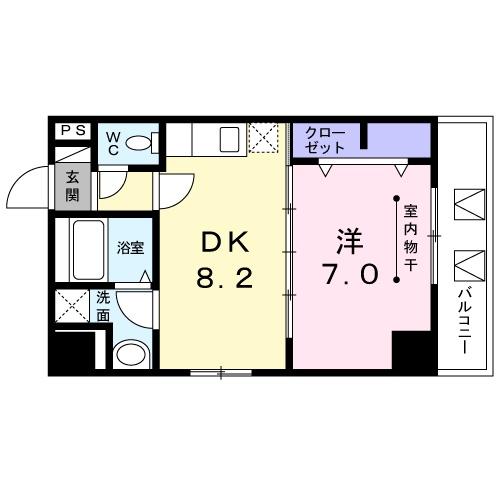 セ・マニフィーク 月島・06020号室の間取り