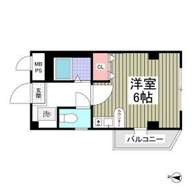 レモンハイツⅢ・203号室の間取り