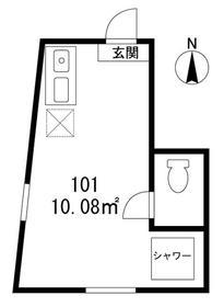 サークルハウス高円寺壱番館・101号室の間取り
