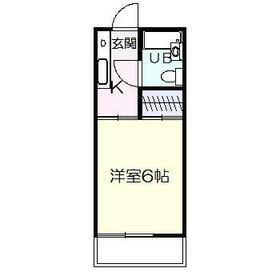 霞ヶ丘サンハイツ・0203号室の間取り