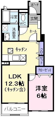 プラムガーデンⅠ・01030号室の間取り