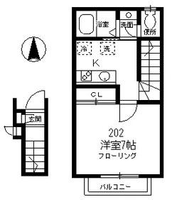 サンコート高円寺南・B202号室の間取り