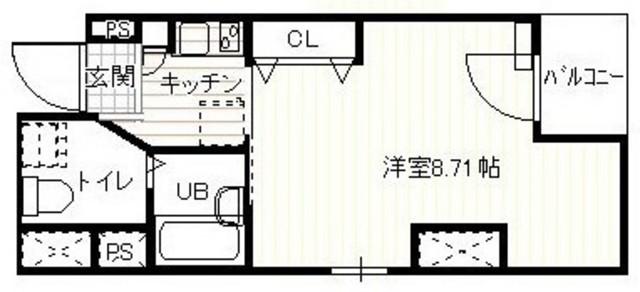 スプリーム月島2・201号室の間取り