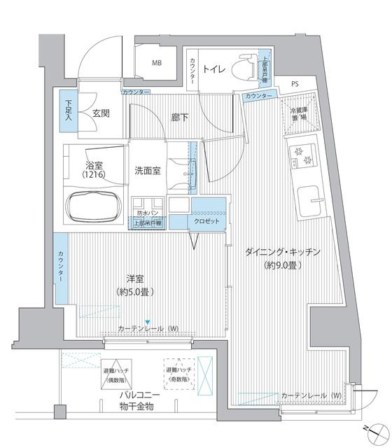 casa KEITO・601号室の間取り