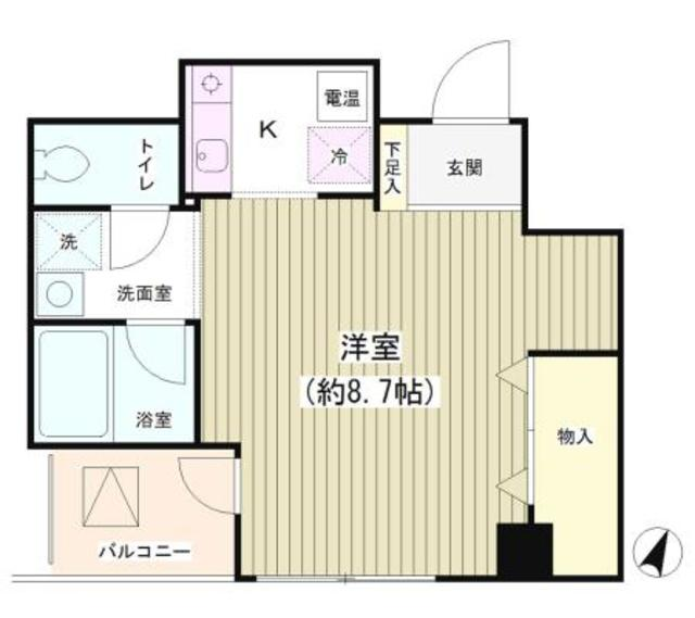 TKR神田多町・502号室の間取り