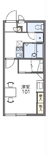 レオパレス鹿ノ子田1・112号室の間取り