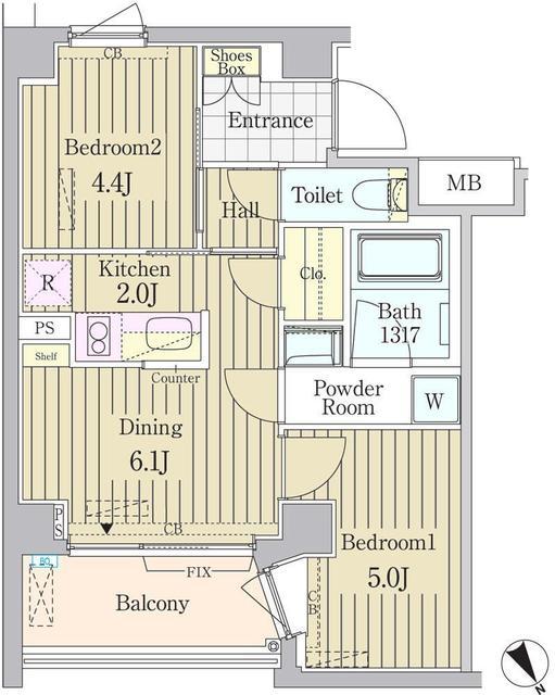 ガーデン原宿・407号室の間取り