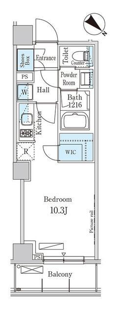 パークアクシス表参道レジデンス・103号室の間取り