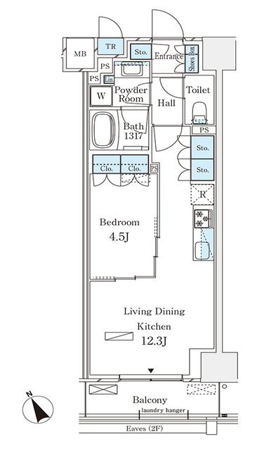 パークナードフィット南青山Garden 504のFloor plan
