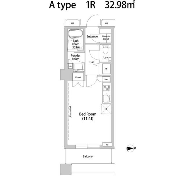 品川ハート ビュータワー・1911号室の間取り