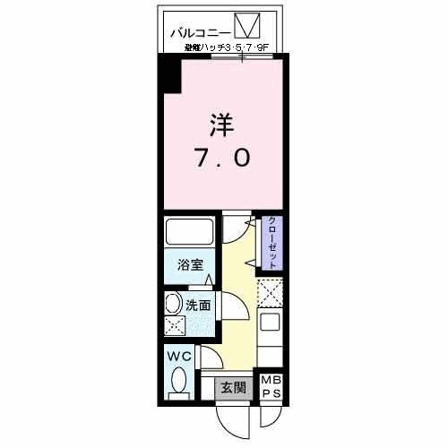 エトワールブランシュ新橋・09030号室の間取り