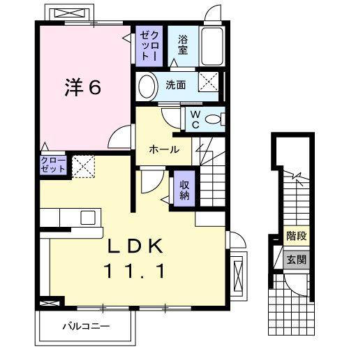 ミニヨンK・S・02020号室の間取り